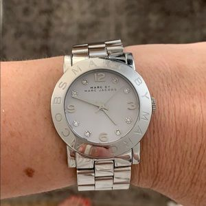 Marc Jacobs 36mm Stainless Watch Rhinestones